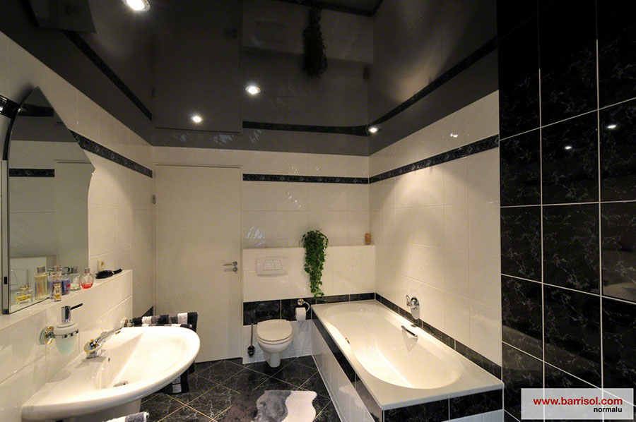 salle de bain le plafond tendu barrisol dans votre salle. Black Bedroom Furniture Sets. Home Design Ideas