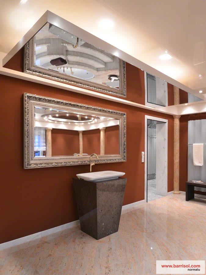 Salle de bain le plafond tendu barrisol dans votre salle for Miroir de plafond
