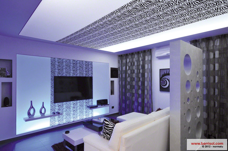 Id es de d coration avec le plafond tendu barrisol for Deco plafond design