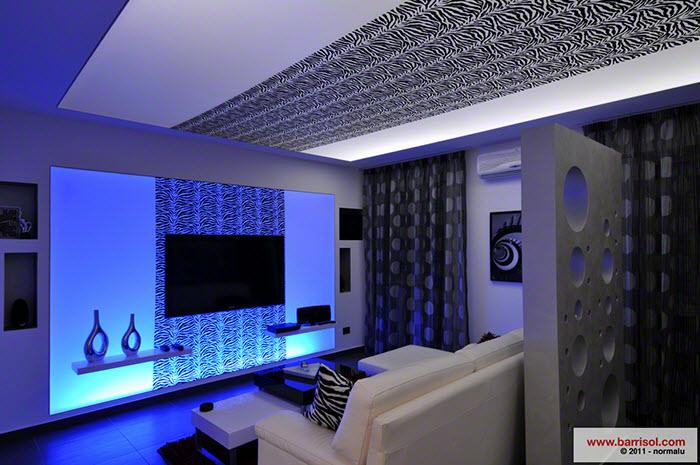 Plafond tendu cr atif creadesign - Plafond de cuisine design ...