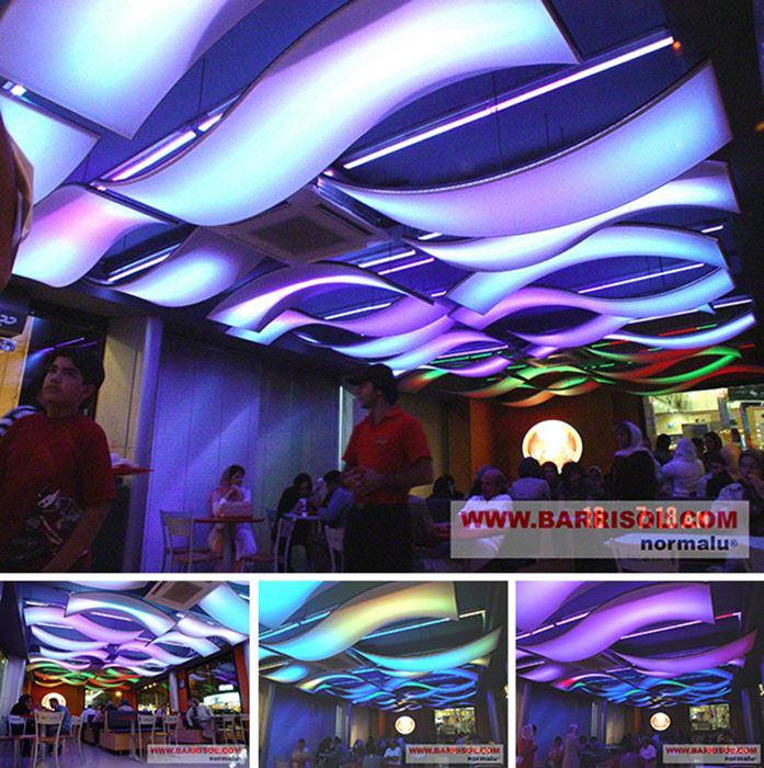 disque lumineux color barrisol lumiere color plafonds modulaires barrisol avec reflets lumineux - Lumire Colore