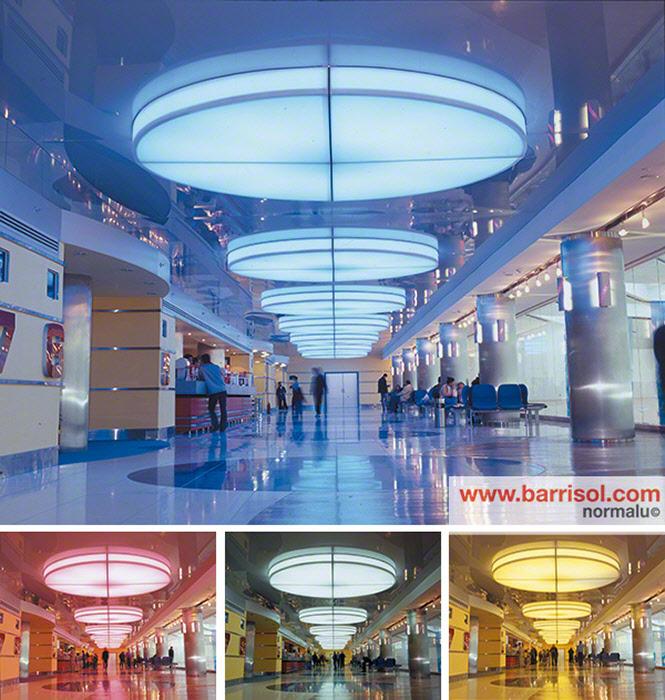 barrisol lumi re color plafond tendu lumineux changement de couleur d 39 clairage. Black Bedroom Furniture Sets. Home Design Ideas
